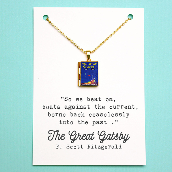 Great Gatsby Book Locket - Gifts for English Teachers
