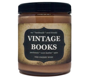Vintage Books Scented Candle Literary Gifts for Mom