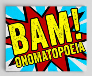 Bam! Onomatopoeia Art Print Gifts for English Majors