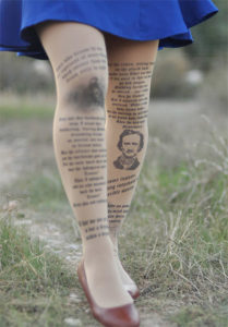 Poe Quote Tights - Edgar Allan Poe Gifts