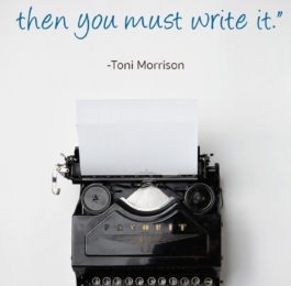 Toni Morrison Writing Quote