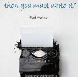Toni Morrison Writing Quote
