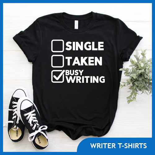 Cute & Funny T-shirts for Writers