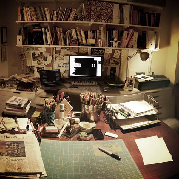 Austin Kleon Analog & Digital Desks