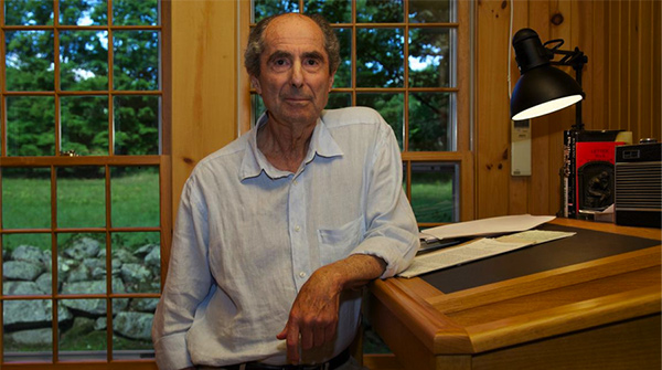 Philip Roth Writes at a Standing Desk