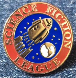 Science Fiction League Enamel Pin